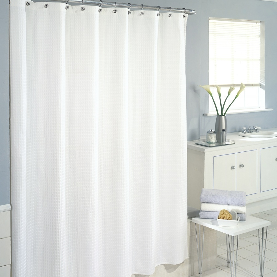 White Linen Shower Curtain 8710 Throughout Extra Long Linen Curtains (Image 15 of 15)