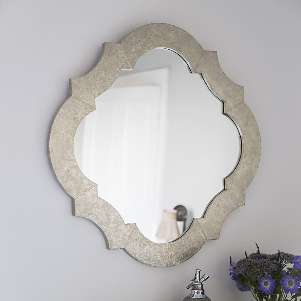 White Metal Wall Mirror With White Metal Mirror (View 1 of 15)