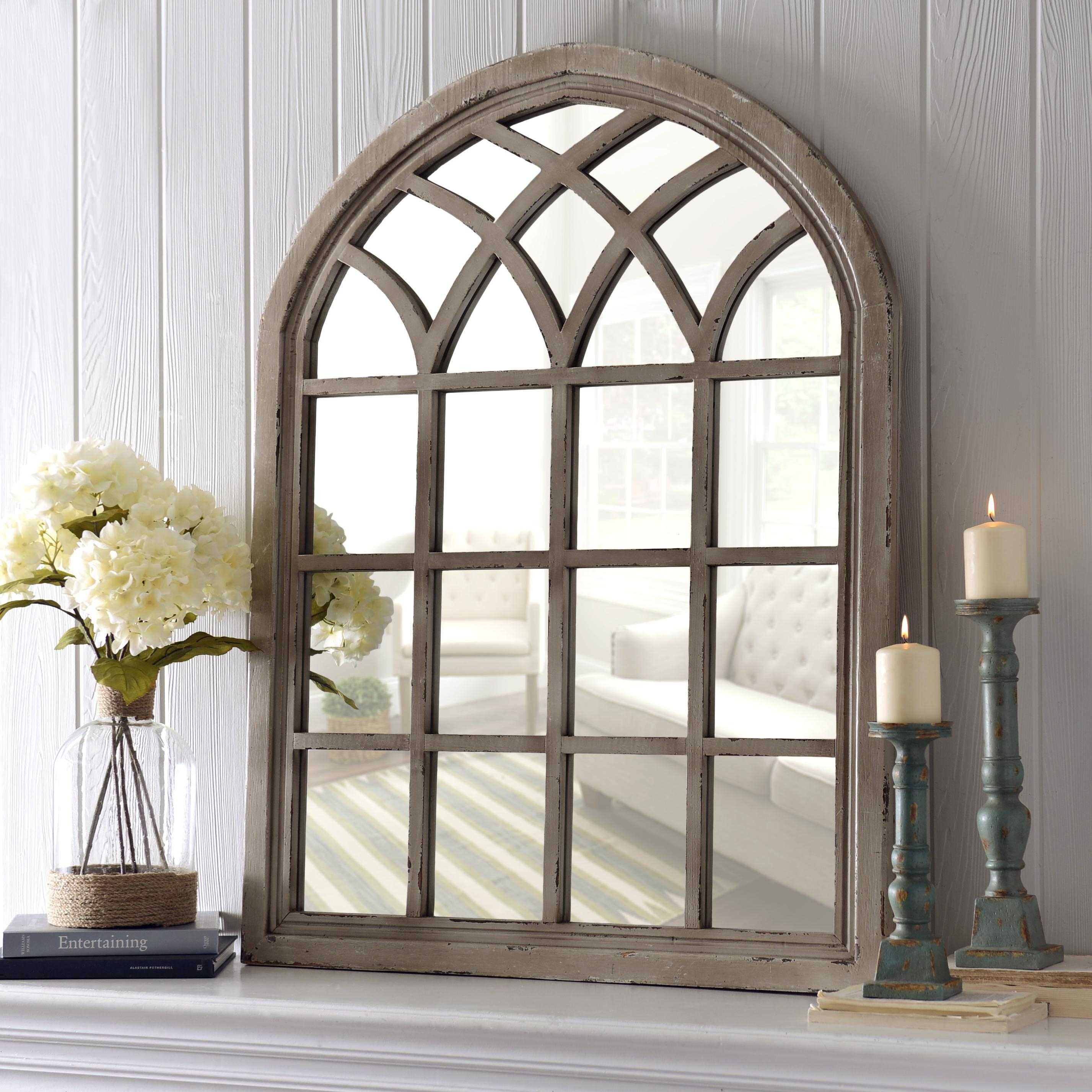 White Mirror Large Mirror Window Pane Mirror Window Mirror In Shabby Chic Window Mirror (Image 14 of 15)