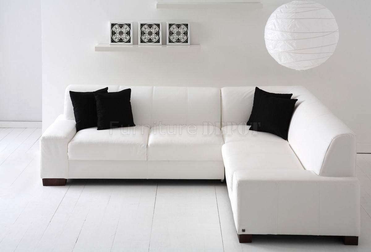 White Sectional Sofa Surripui Pertaining To Black And White Sectional Sofa (View 12 of 15)