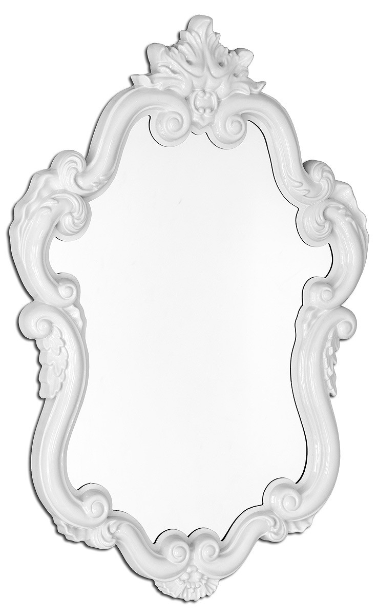 White Wall Mirror Amazoncom Decorative Oval Wall Mirror White Within White Baroque Wall Mirror (Image 15 of 15)
