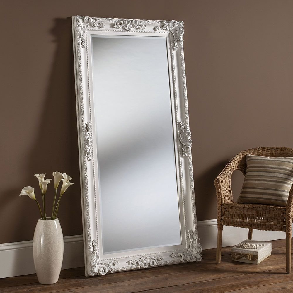 White Wall Mirrors Decorative Inarace Pertaining To Large Ornate Mirrors For Wall (Image 15 of 15)