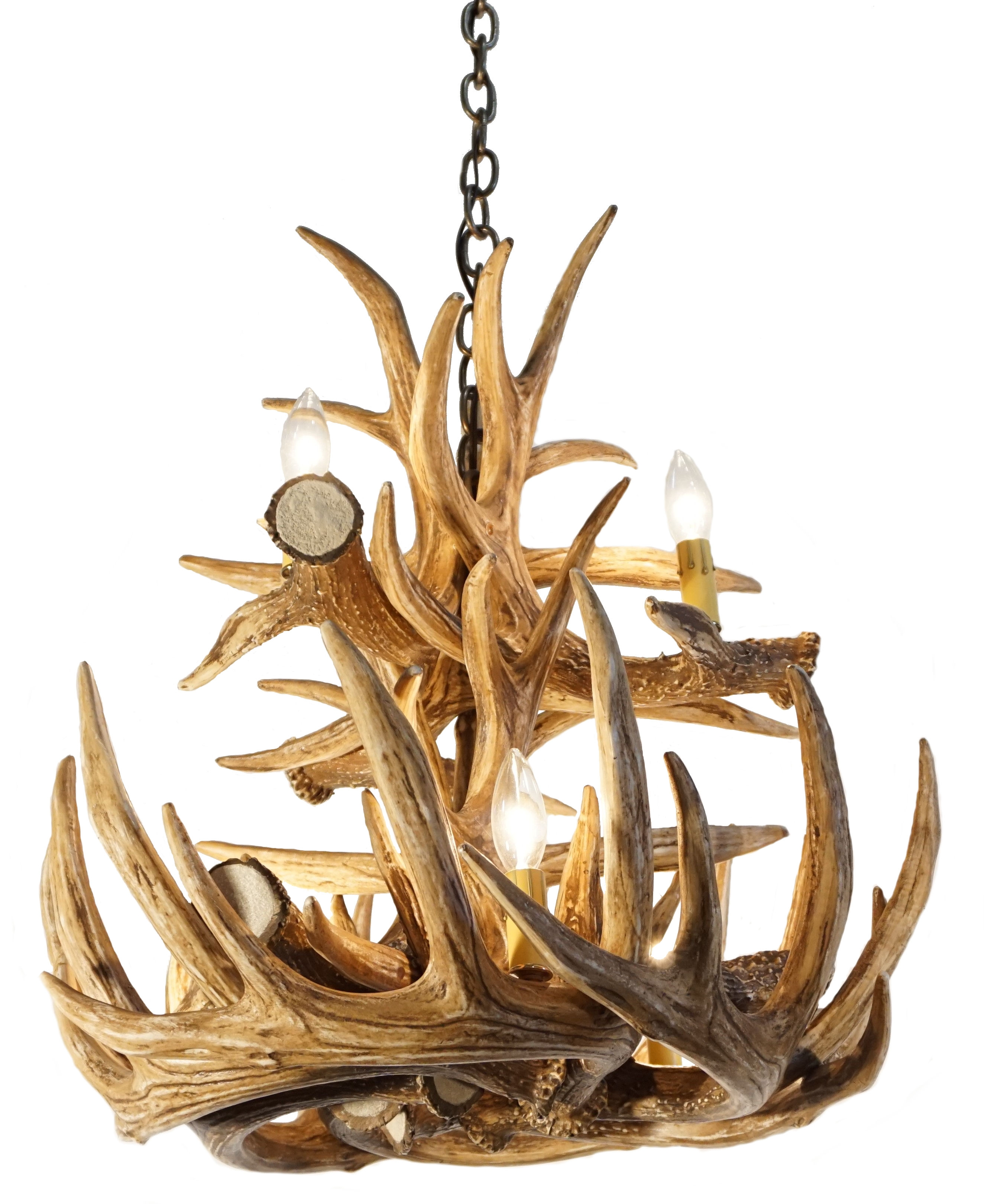 Whitetail Deer 12 Large Antler Chandelier Cast Horn Designs In Antler Chandeliers (View 6 of 15)