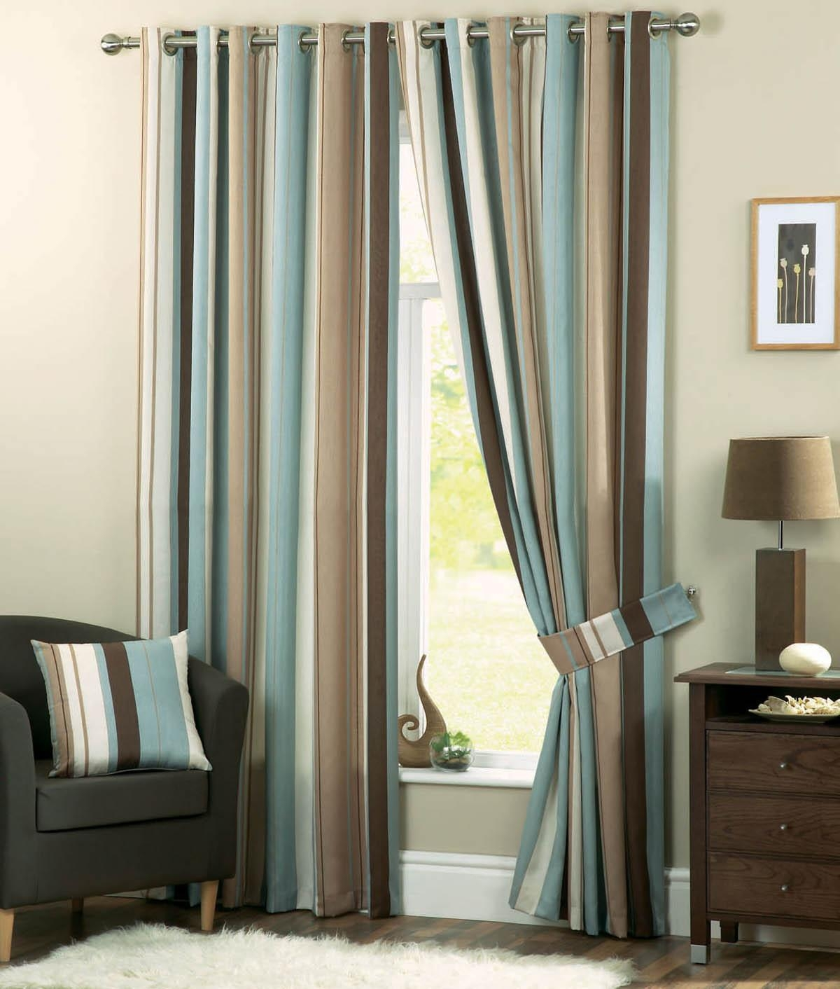 Whitworth Eyelet Curtains Duckegg Free Uk Delivery Terrys Fabrics Within Duck Egg Blue Striped Curtains (View 3 of 15)