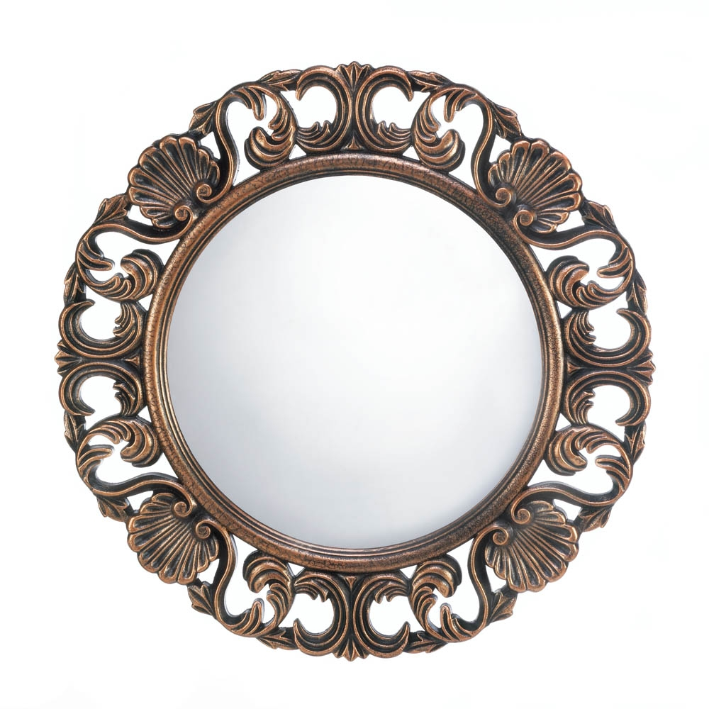 Wholesale Heirloom Round Wall Mirror Buy Wholesalemart New Products In Round Mirrors For Sale (Image 15 of 15)