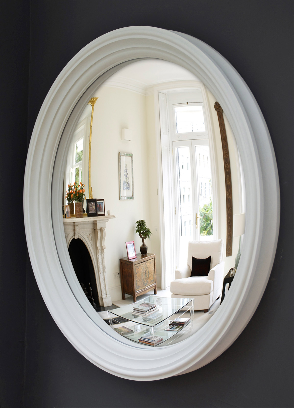 Why You Need A Large Convex Mirror Omelo Decorative Convex Within White Convex Mirror (View 6 of 15)