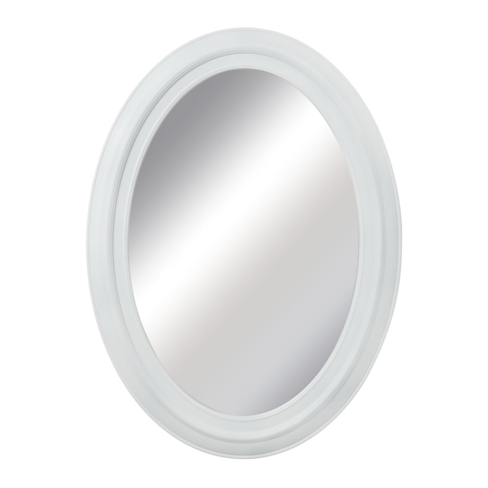 Wilko Denmark Mirror Oval White 54 X 74cm At Wilko For White Oval Mirrors (Image 15 of 15)