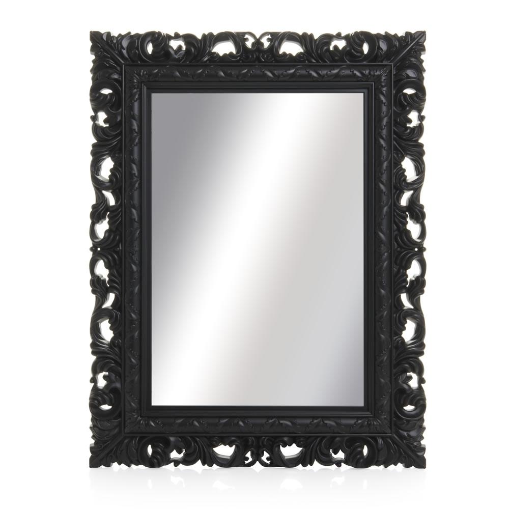 Wilko Ornate Mirror Medium Black 50 X 64cm At Wilko Intended For Mirror Ornate (Image 13 of 15)