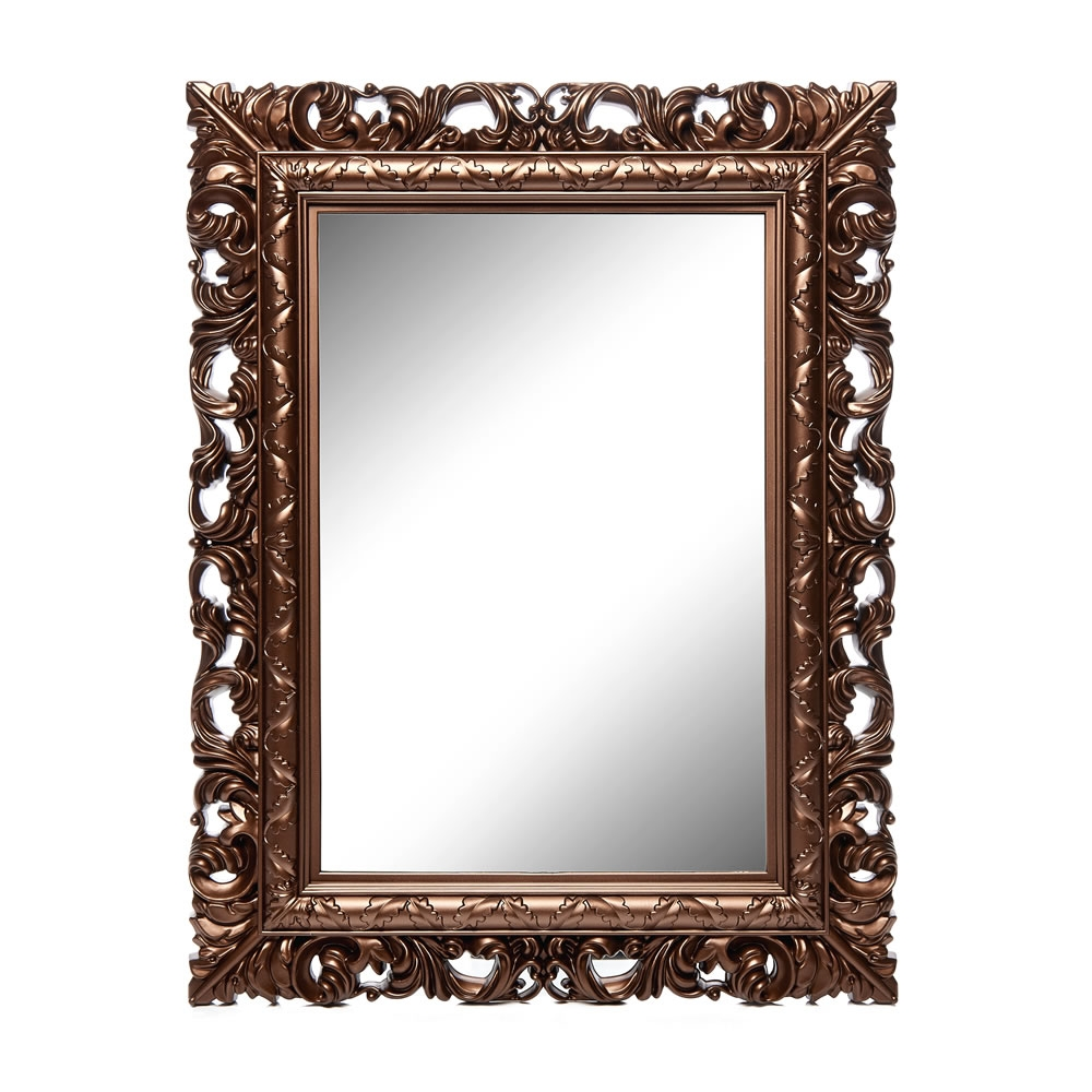 Wilko Ornate Mirror Medium Gold 50 X 64cm At Wilko Intended For Mirror Ornate (Image 14 of 15)