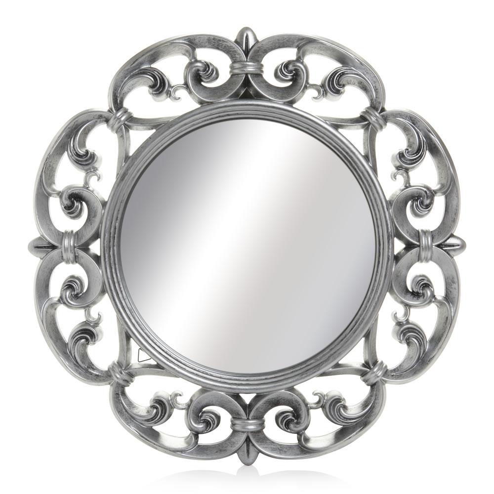 Wilko Ornate Mirror Round 60cm Diameter At Wilko Within Mirror Ornate (Image 15 of 15)