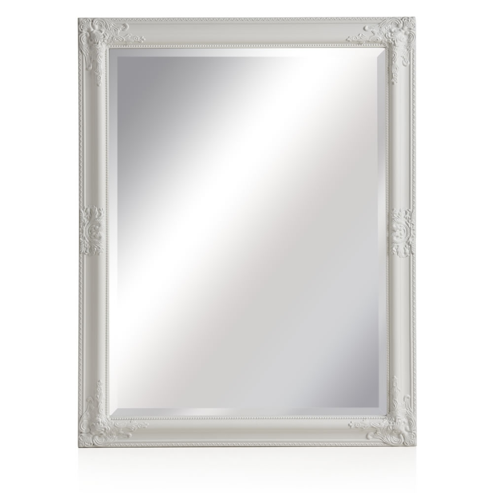 Wilko Rococco Mirror Large White 76 X 96cm At Wilko Regarding Large White Rococo Mirror (Image 13 of 15)
