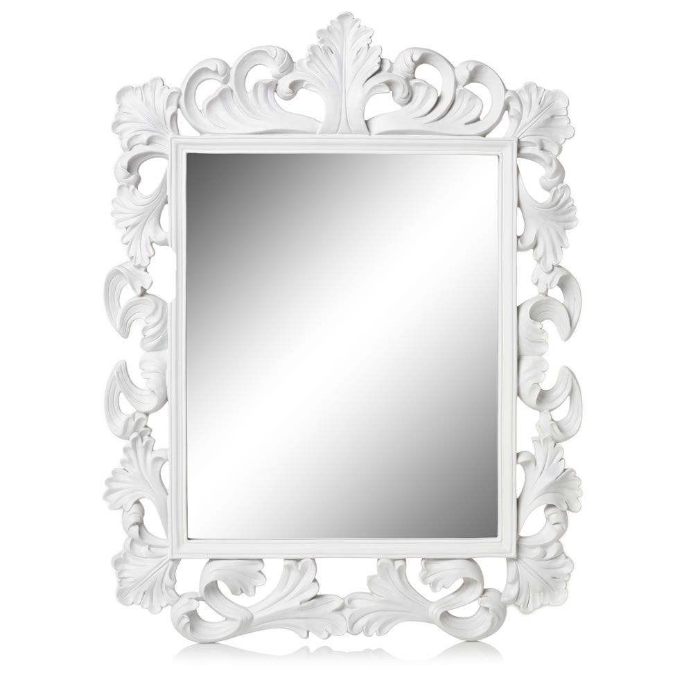Featured Image of Large White Rococo Mirror