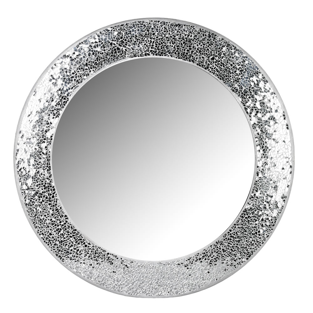 Wilko Silver Mosaic Mirror At Wilko Within Black Mosaic Mirror (Image 15 of 15)