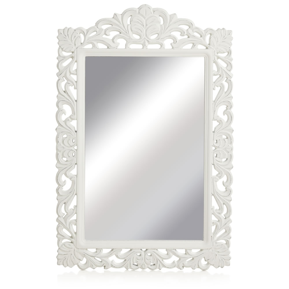 Wilko Vintage Ornate Mirror Large 565 X 845cm At Wilko With Regard To White Ornate Mirror (Image 15 of 15)