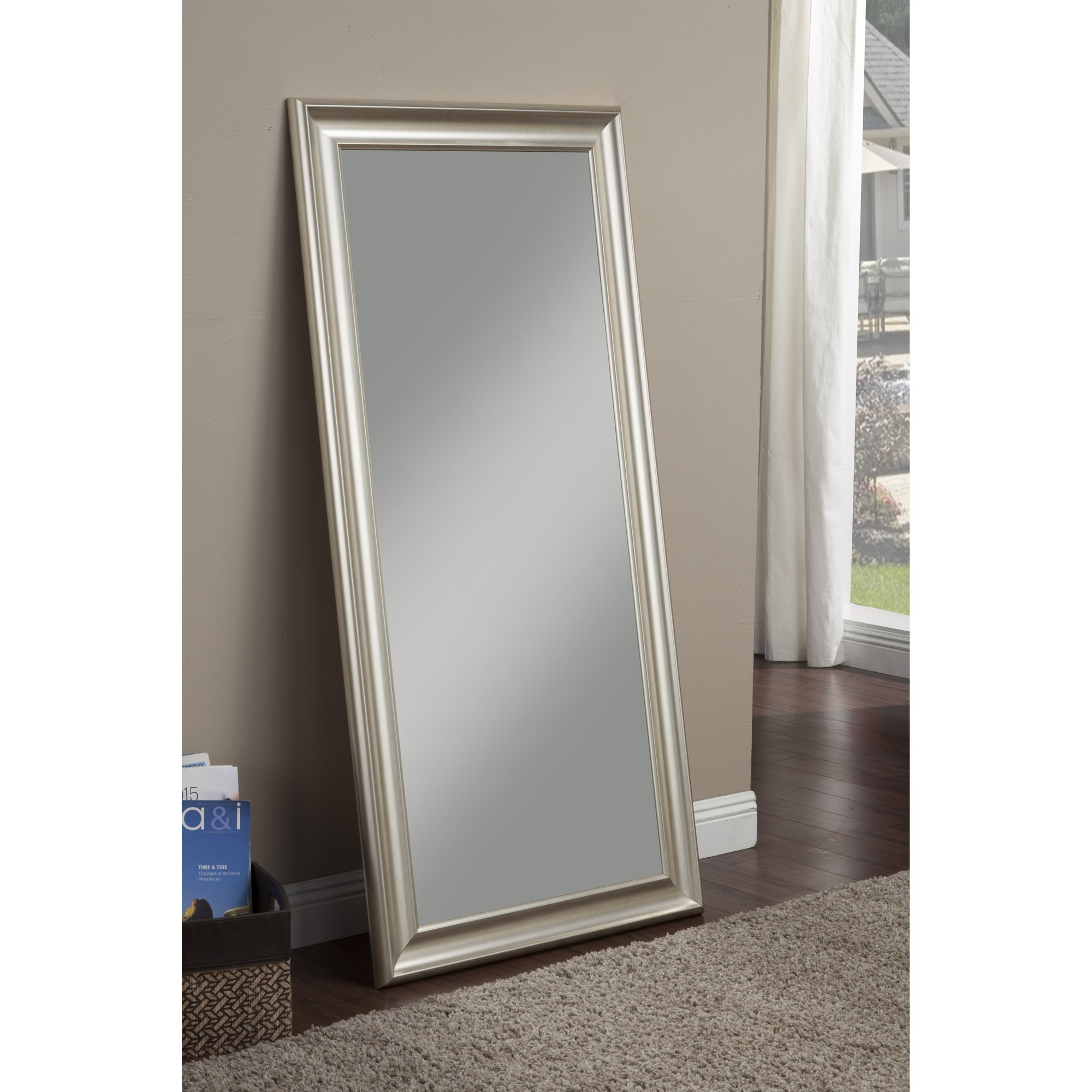 Willa Arlo Interiors Modern Full Length Leaning Mirror Reviews Regarding Silver Full Length Mirror (Image 15 of 15)