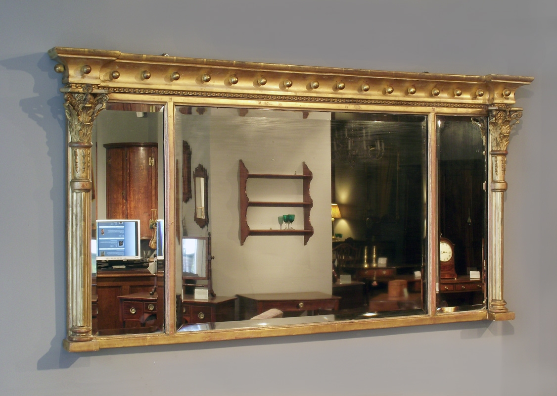 William Iv Gilt Overmantel Mirror Antique Gilt Mirror Mantel Throughout Mantelpiece Mirror (Image 15 of 15)