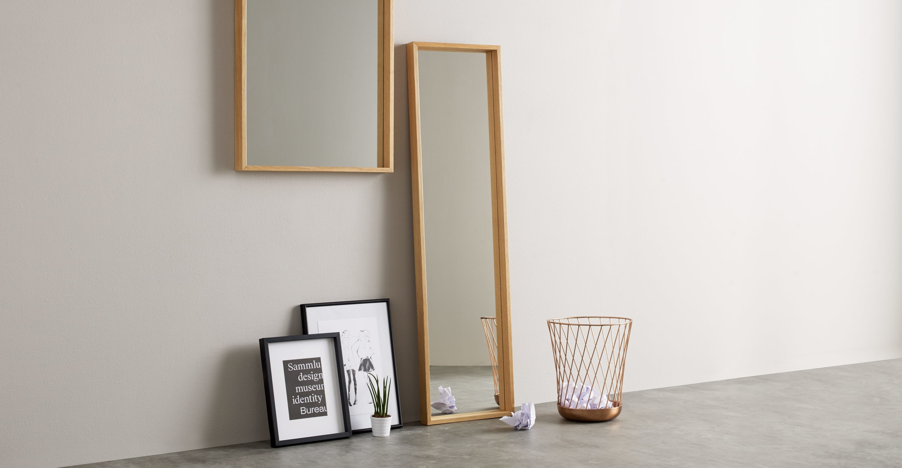 Wilson Wall Mirror 30 X 120cm Oak Made For Oak Wall Mirrors (Image 13 of 15)