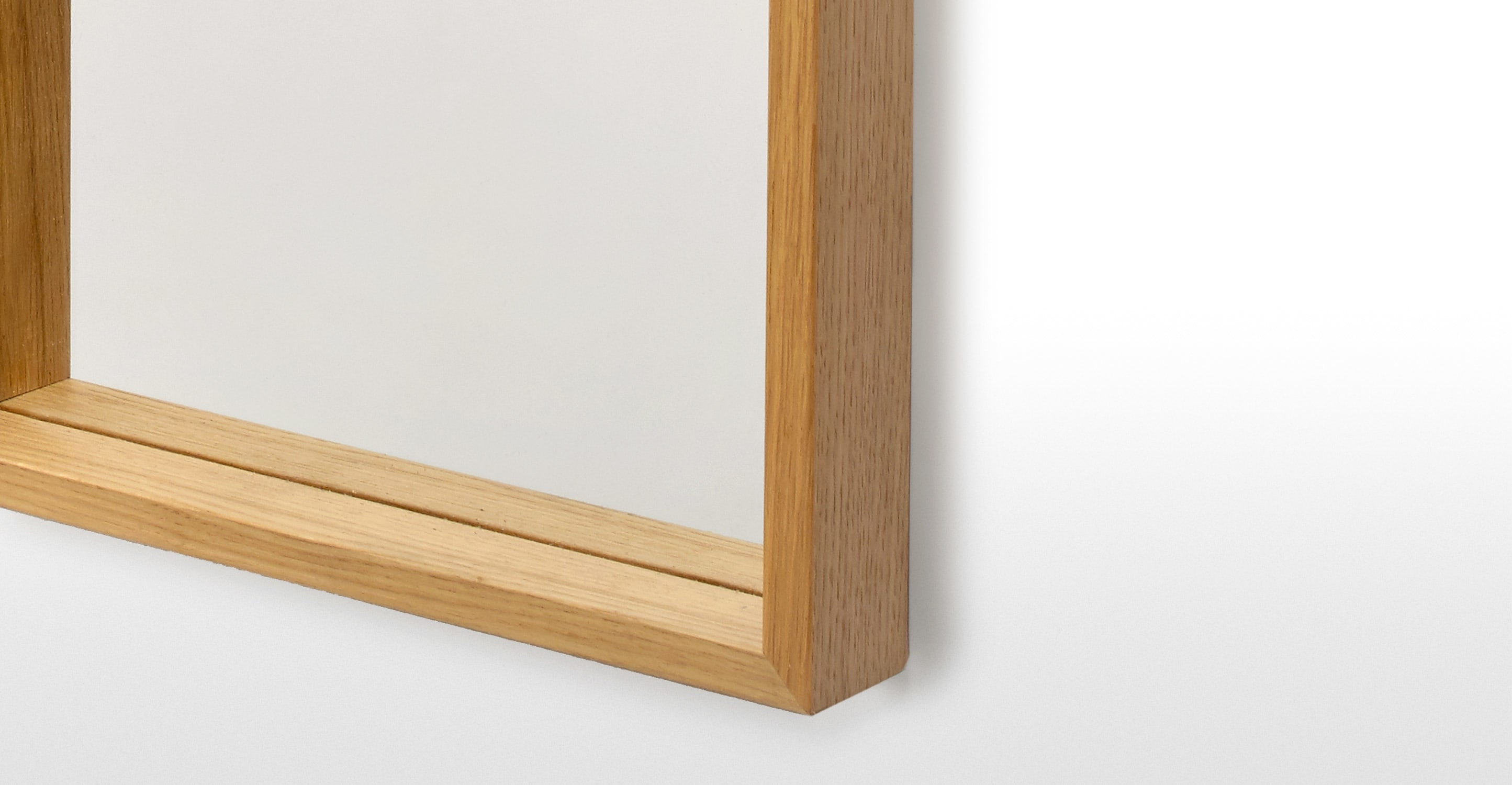 Wilson Wall Mirror 30 X 120cm Oak Made Regarding Oak Wall Mirrors (Image 14 of 15)