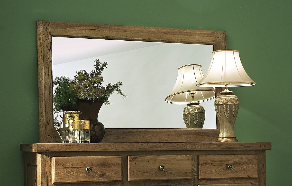 Windermere Solid Oak Large Mirror Oak Furniture Uk Intended For Large Oak Mirror (View 15 of 15)