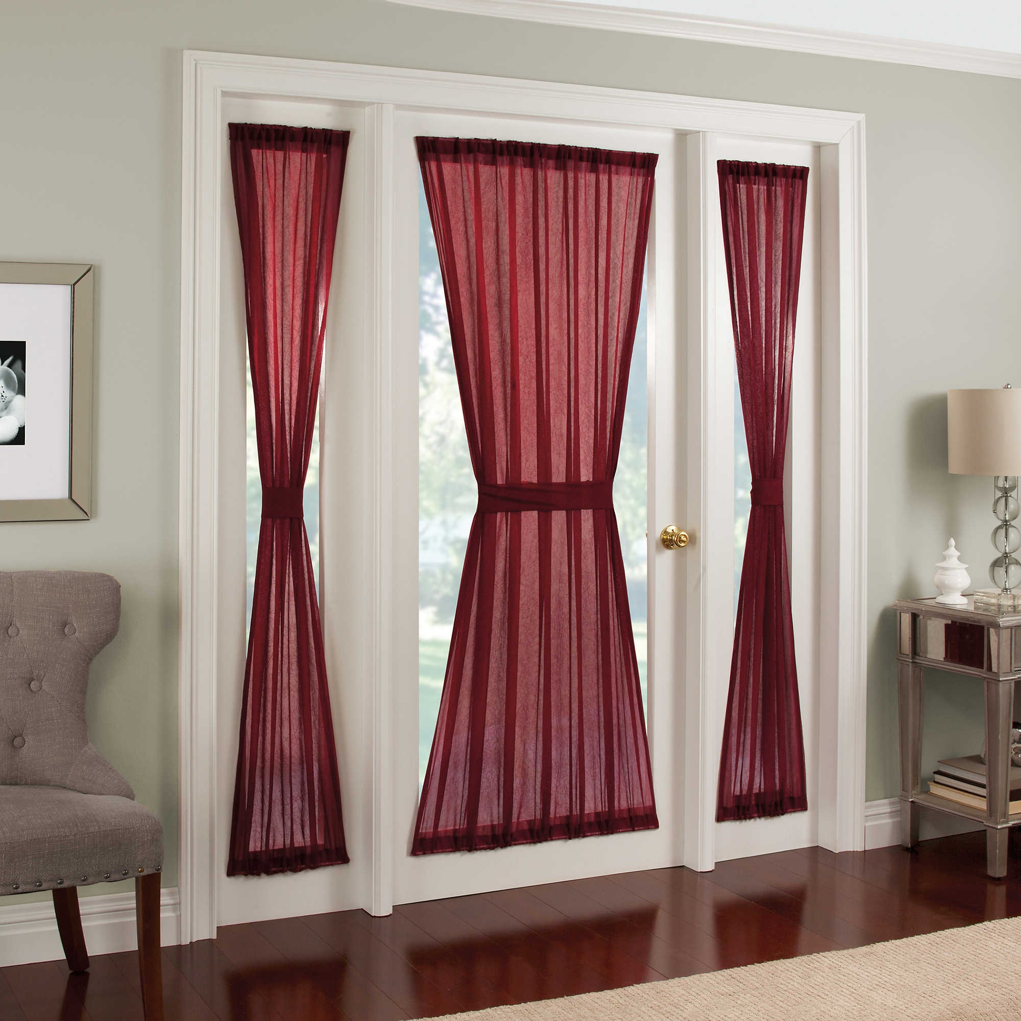 Window Coverings For Front Door Sidelights Free Image Pertaining To Main Door Curtains (Image 15 of 15)