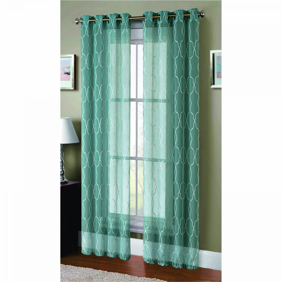Window Elements Boho Embroidered Faux Linen Sheer Extra Wide 108 X Regarding Extra Wide Linen Curtains (Image 6 of 15)