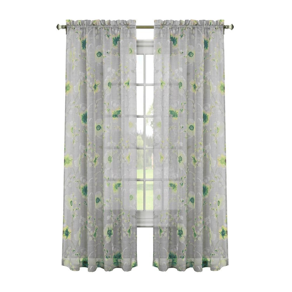 Window Elements Linen Solid Voile Extra Wide Sheer Rod Pocket Regarding Extra Long Voile Curtains (Image 15 of 15)