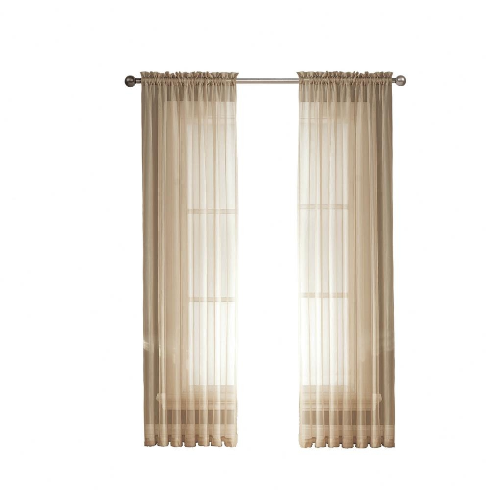 Window Elements Linen Solid Voile Extra Wide Sheer Rod Pocket Regarding Extra Wide Linen Curtains (Image 10 of 15)