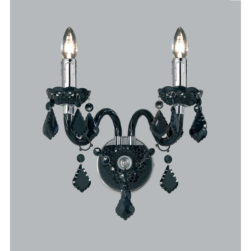Winsome Black Chandelier Wall Lights 55 Black Chandelier Wall Regarding Black Chandelier Wall Lights (Image 14 of 15)