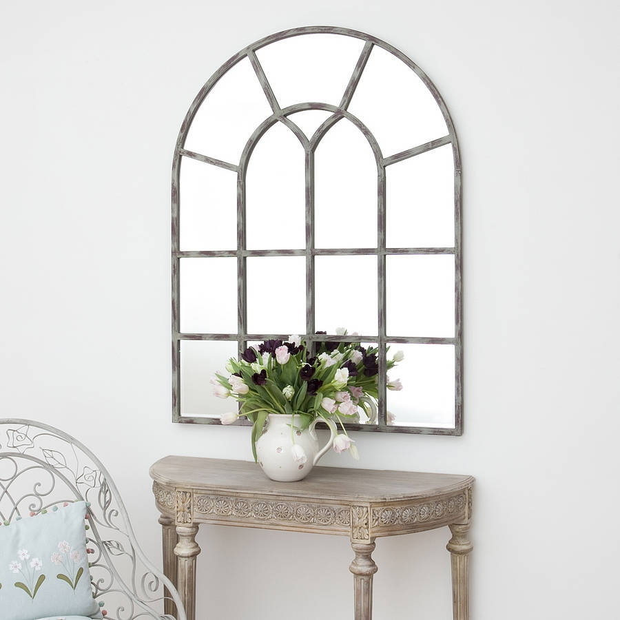 Wonderful Window Mirror Mirrors Online And Decorative Mirrors Intended For Window Arch Mirror (Image 15 of 15)