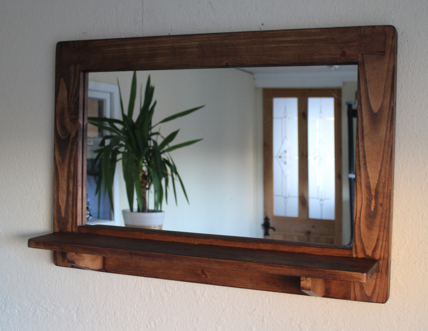 15 Collection Of Rustic Oak Framed Mirrors Mirror Ideas