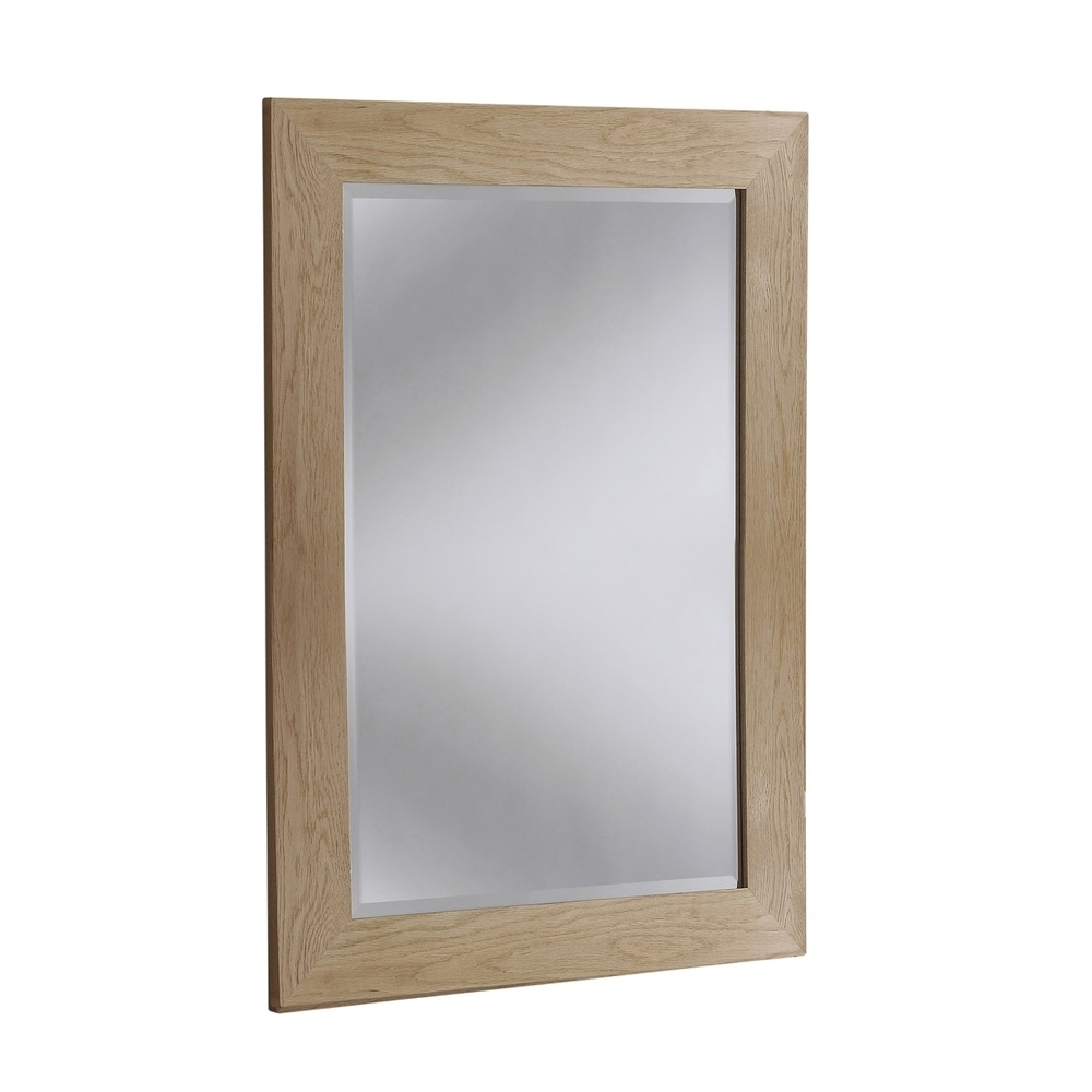 Wood Mirror Preston Solid Oak Wall Mirrors In Oak Wall Mirrors (Image 15 of 15)