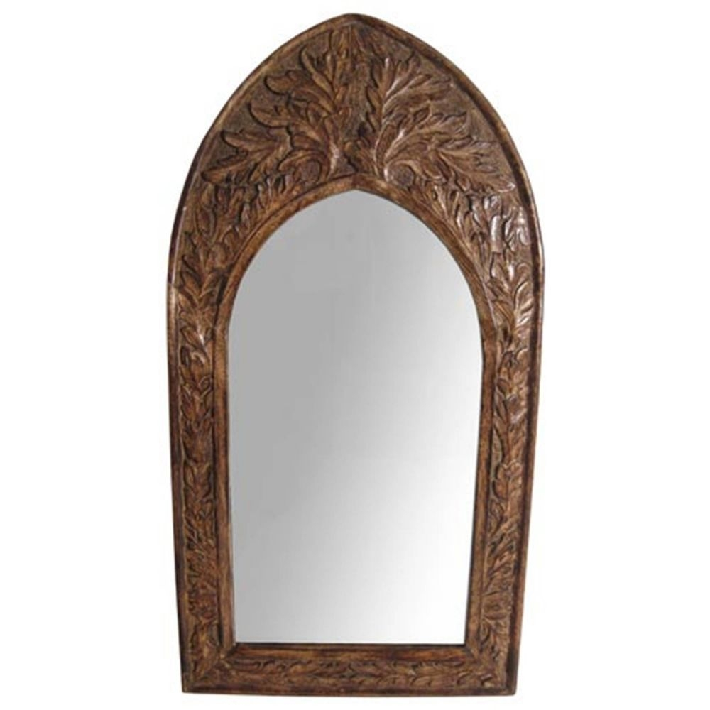 Wooden Arched Mirror Ebay For Gothic Style Mirrors (Image 14 of 15)