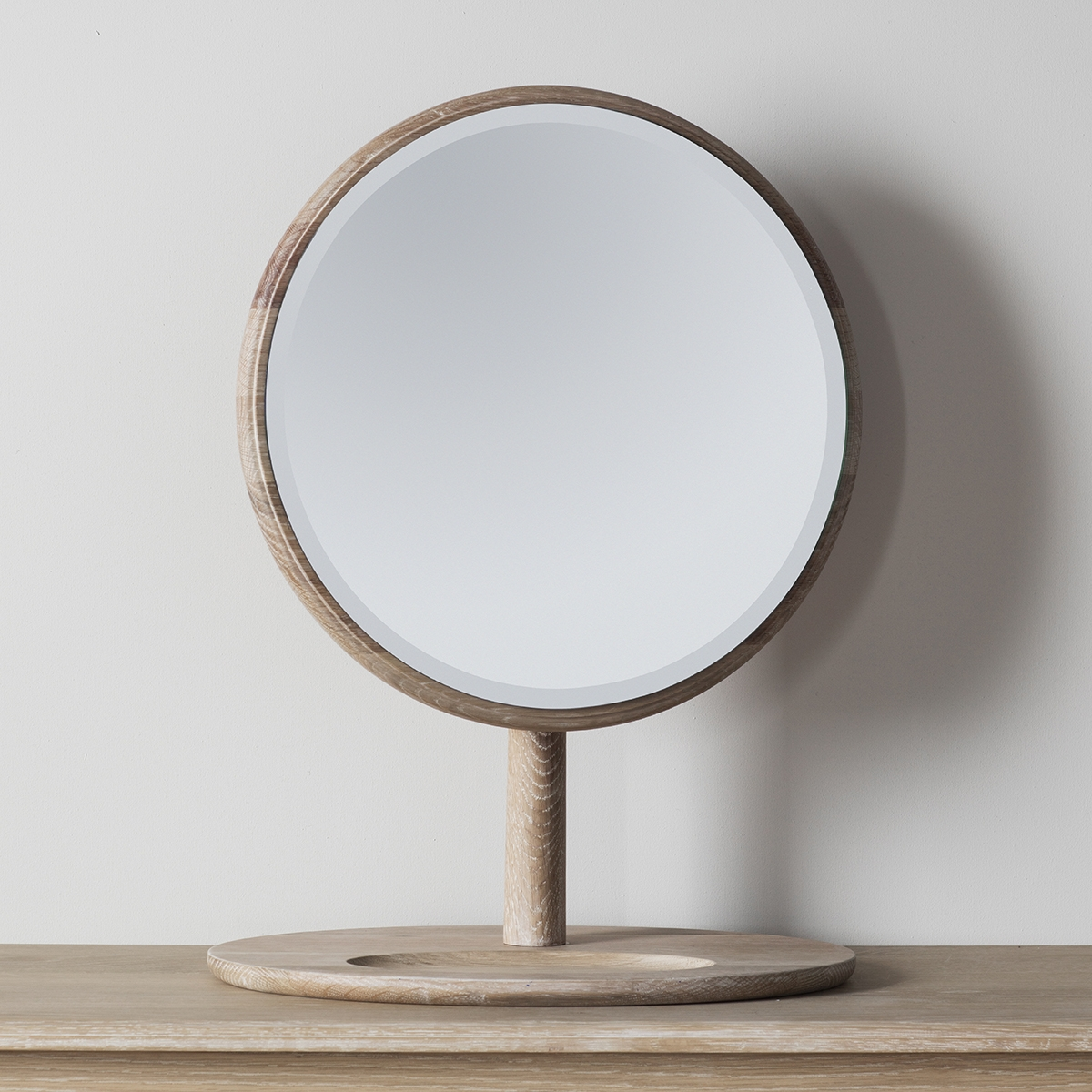 Wooden Framed Round Dressing Table Mirror 635 X 46cm Exclusive Intended For Dressing Mirror (Image 15 of 15)