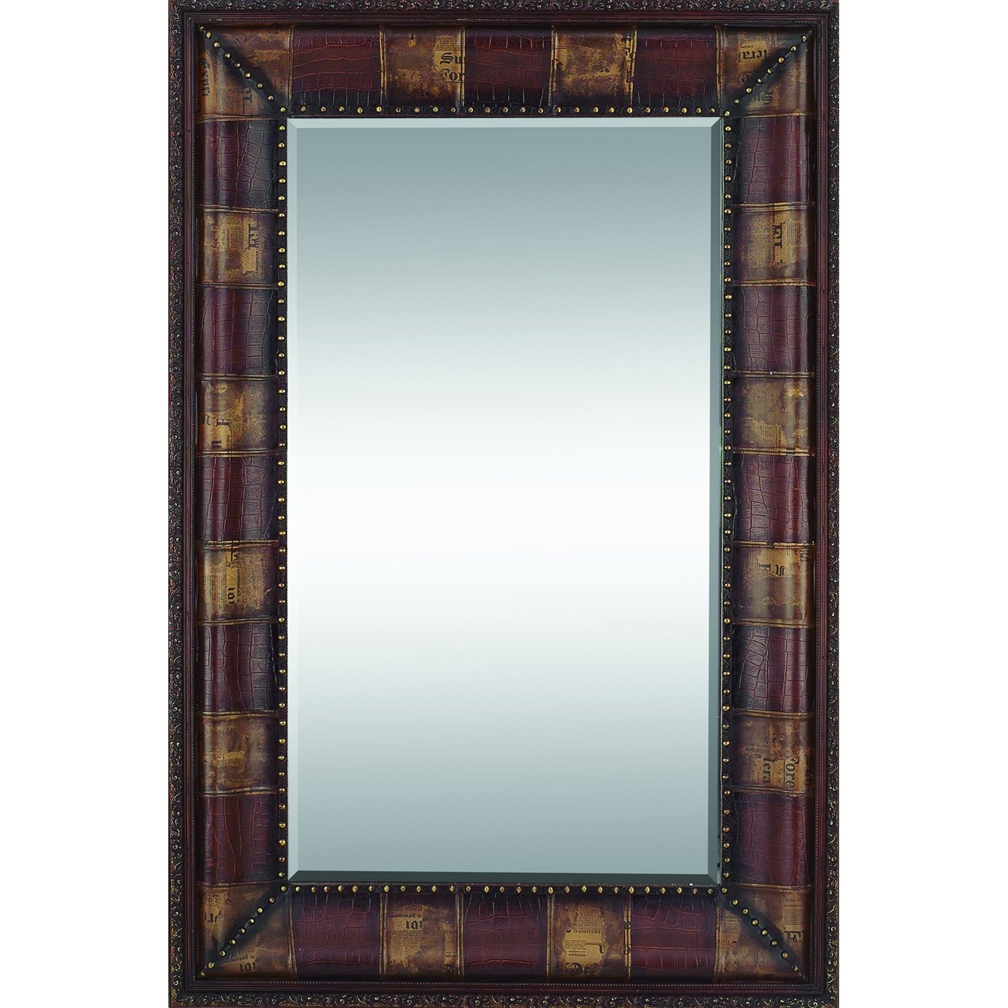 Woodland Imports Rectangular Leather Mirror Reviews Wayfair Regarding Leather Mirror (View 5 of 15)