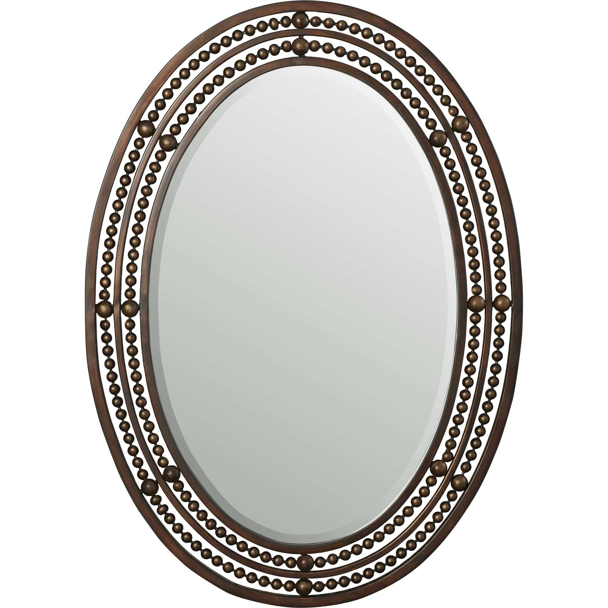 World Menagerie Oval Wall Mirror Reviews Wayfair Within Oval Wall Mirrors (Image 15 of 15)