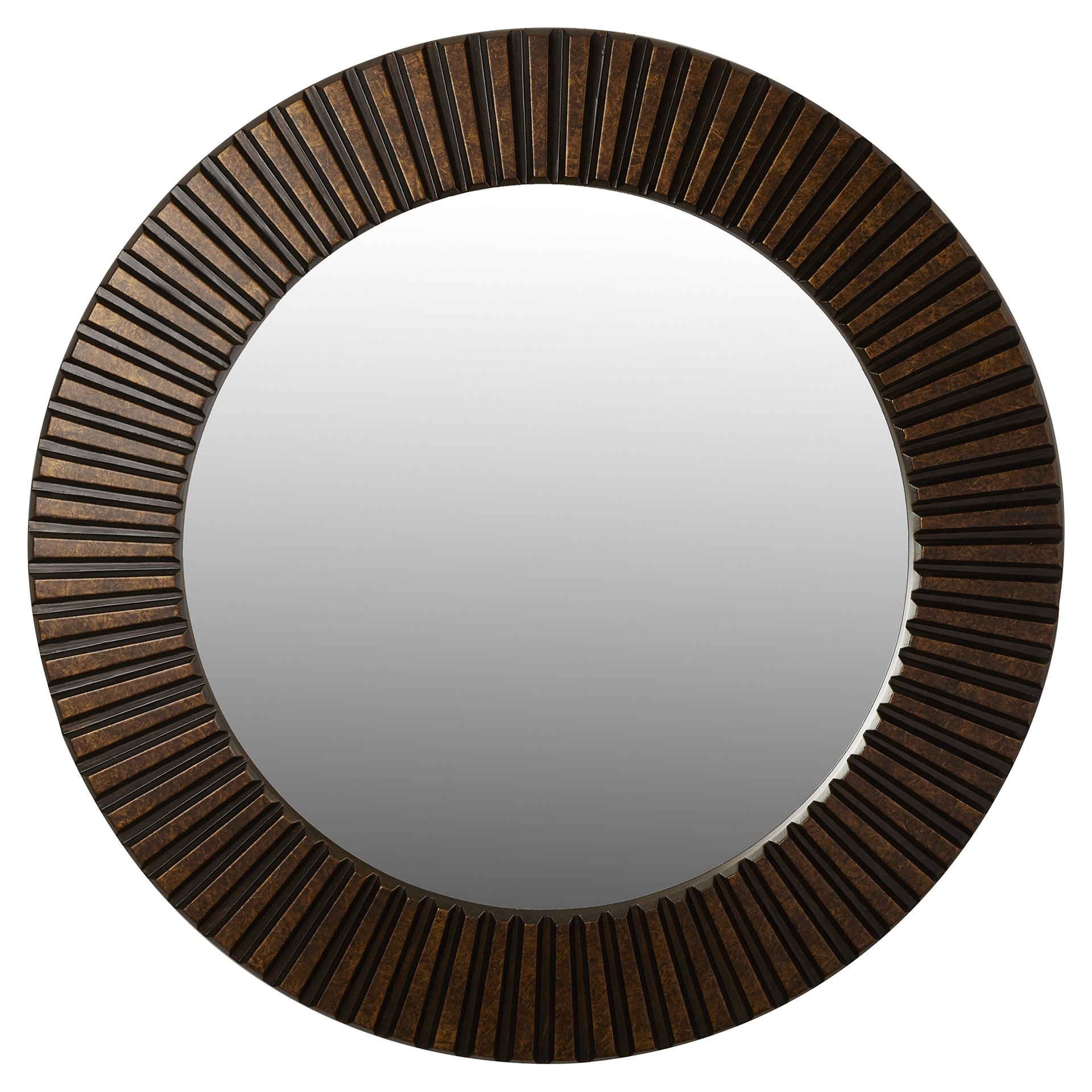 World Menagerie Round Bronze Wall Mirror Reviews Wayfair Throughout Bronze Wall Mirrors (Image 15 of 15)