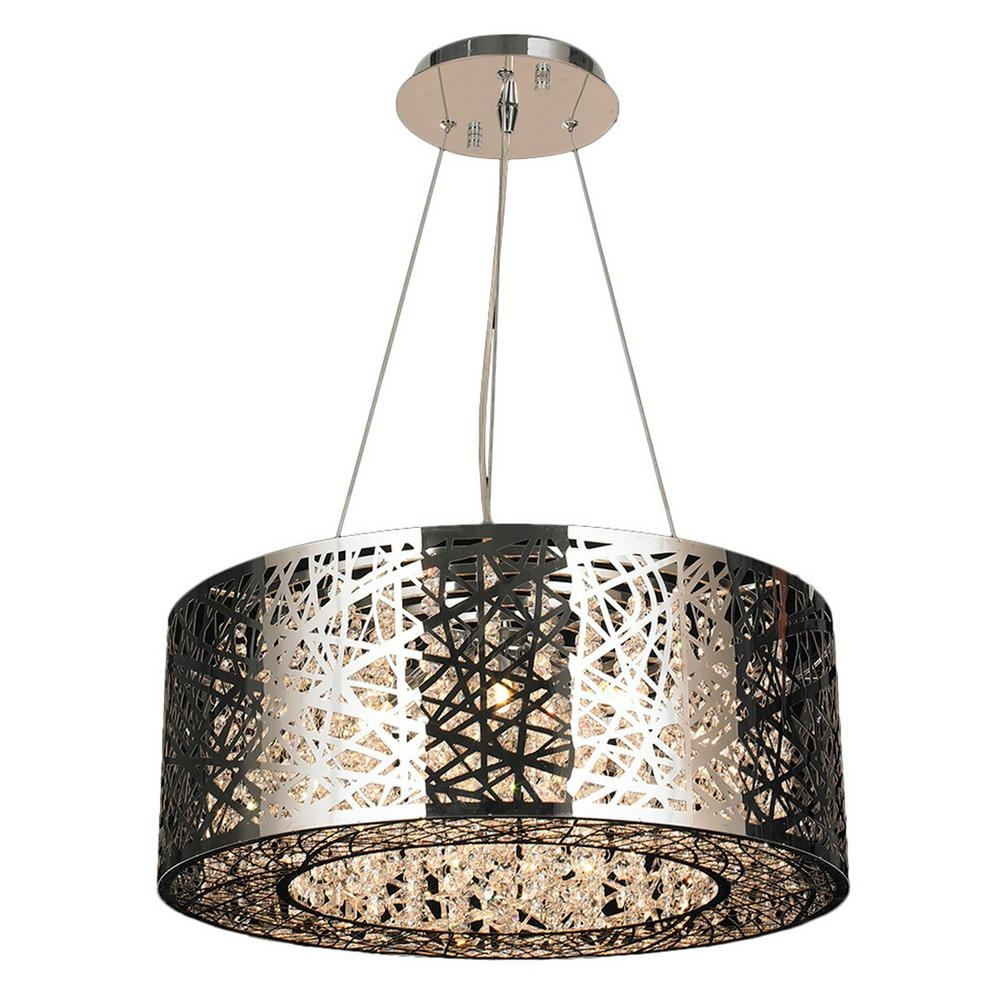 Worldwide Lighting Aramis 12 Light Chrome Chandelier With Clear For Crystal And Chrome Chandeliers (Image 15 of 15)
