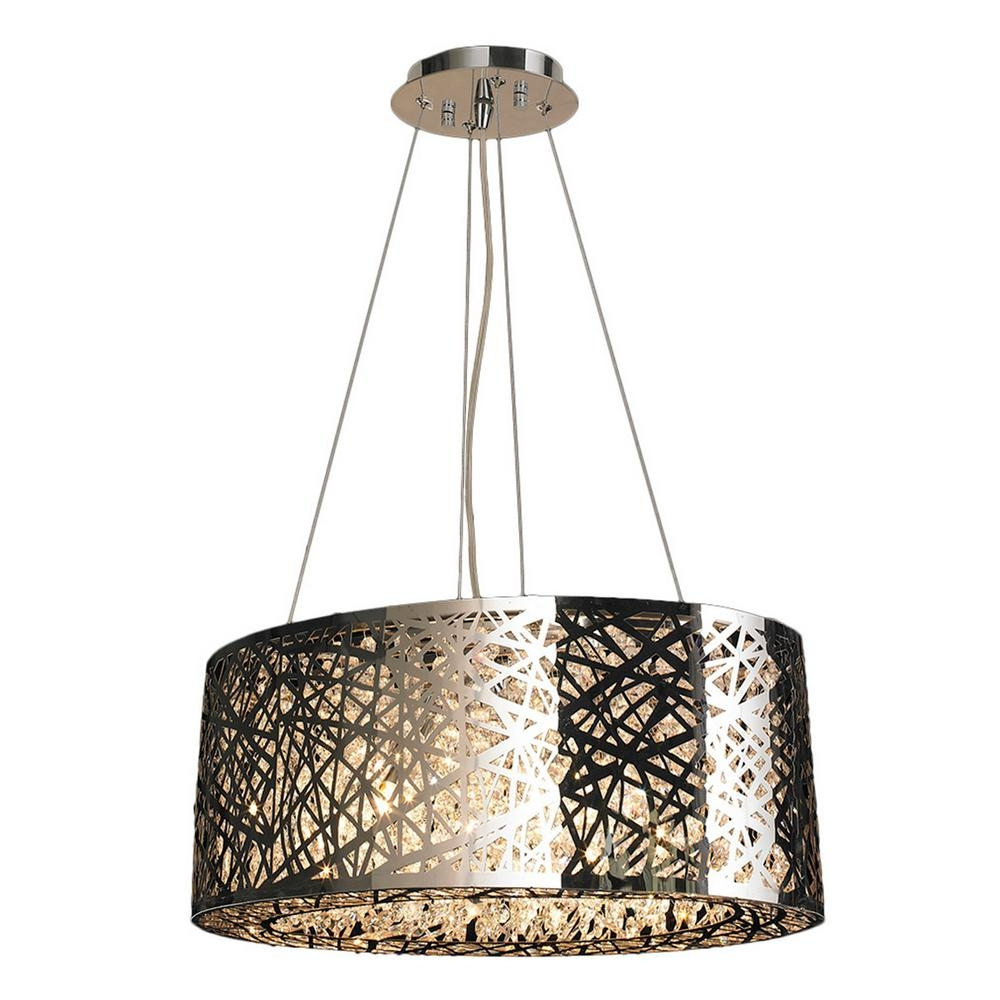 Worldwide Lighting Aramis Collection 8 Light Chrome Crystal Pertaining To Chrome And Crystal Chandelier (View 15 of 15)