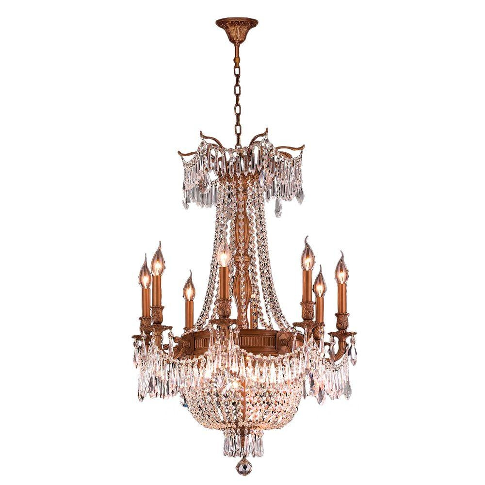 Worldwide Lighting Winchester Collection 12 Light French Gold And In French Gold Chandelier (Image 11 of 14)