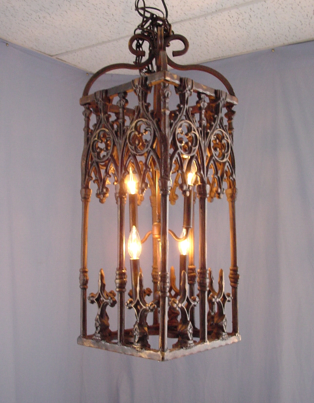 Wrought Iron Antler Chandeliers Lighting Rustic Tuscan Pertaining To Vintage Wrought Iron Chandelier (Image 15 of 15)