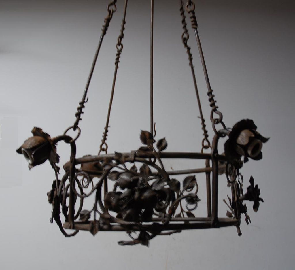 Wrought Iron Chandelier Decor Ideas Inspiration Home Designs In Wrought Iron Chandelier (Image 11 of 15)