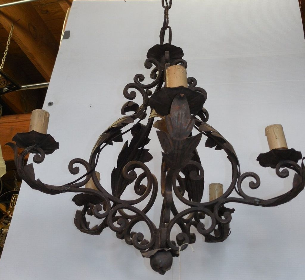 Wrought Iron Chandelier Decor Ideas Inspiration Home Designs With Regard To Wrought Iron Chandelier (Image 12 of 15)