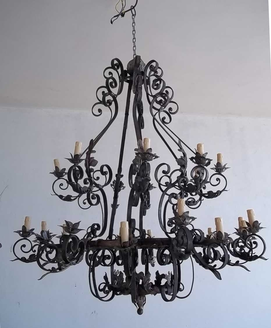 Wrought Iron Chandelier New For Your Home Design Ideas With Inside Wrought Iron Chandelier (Image 13 of 15)