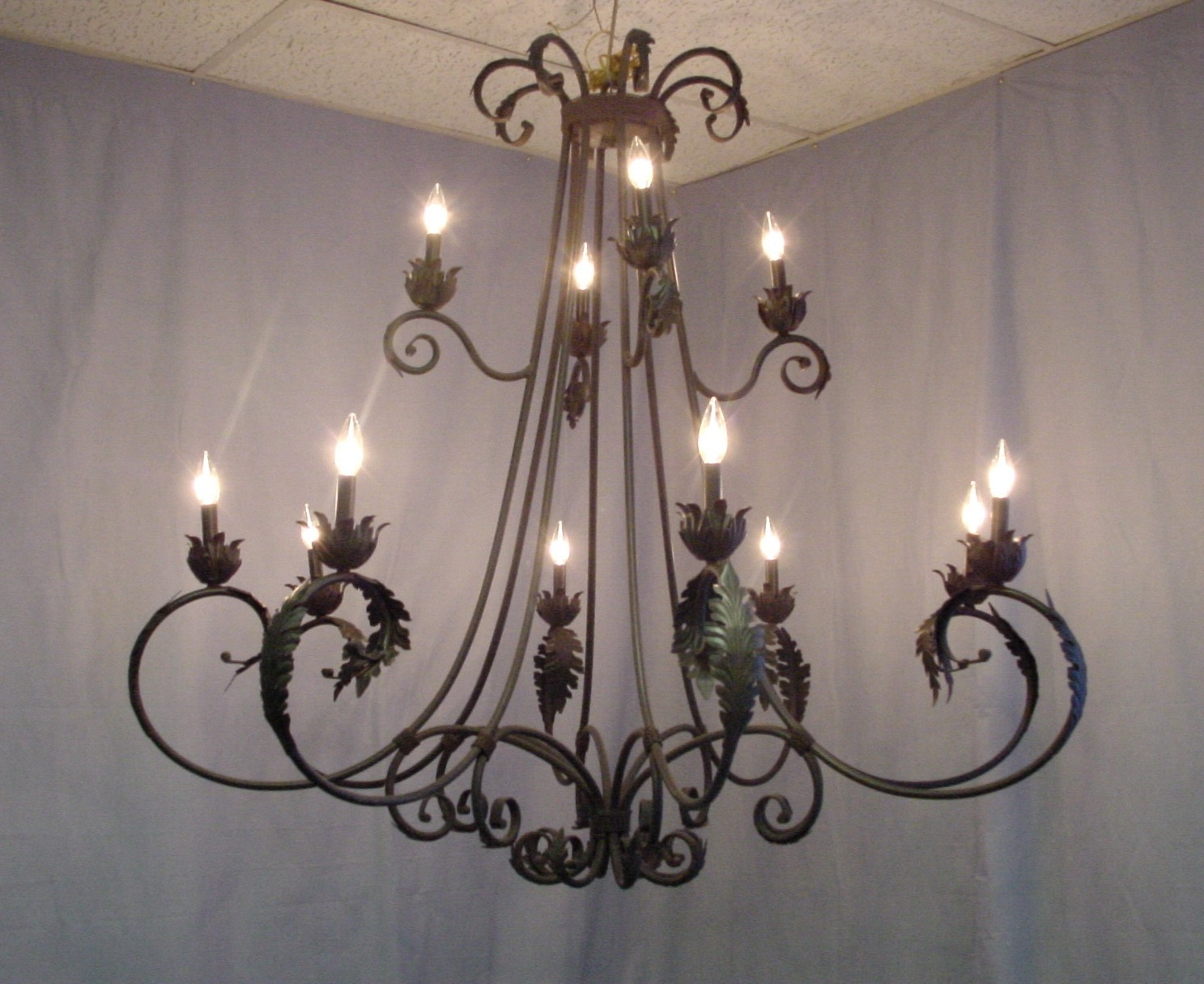 Wrought Iron Chandeliers Lamp World With Regard To Wrought Iron Chandeliers (Image 12 of 15)