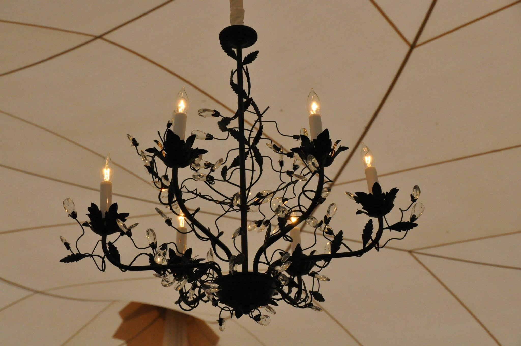 Wrought Iron Lighting Inside Wrought Iron Chandeliers (Image 15 of 15)