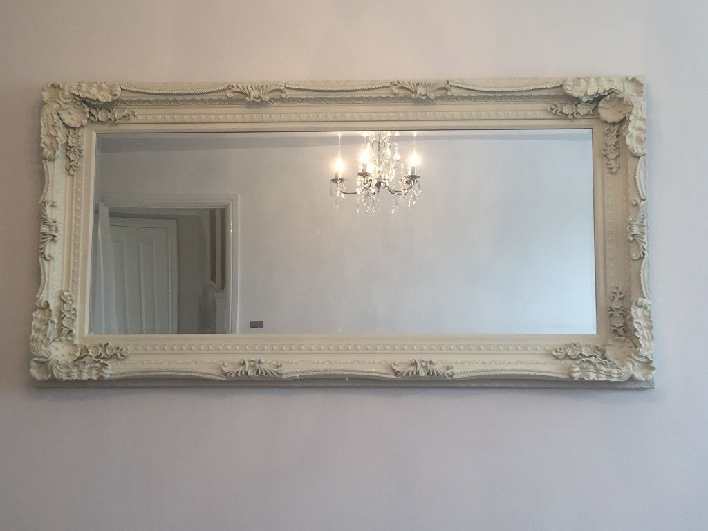 X Large Shab Chic Cream Wallfloor Mirror In Warrington For Shabby Chic Cream Mirror (Photo 1 of 15)