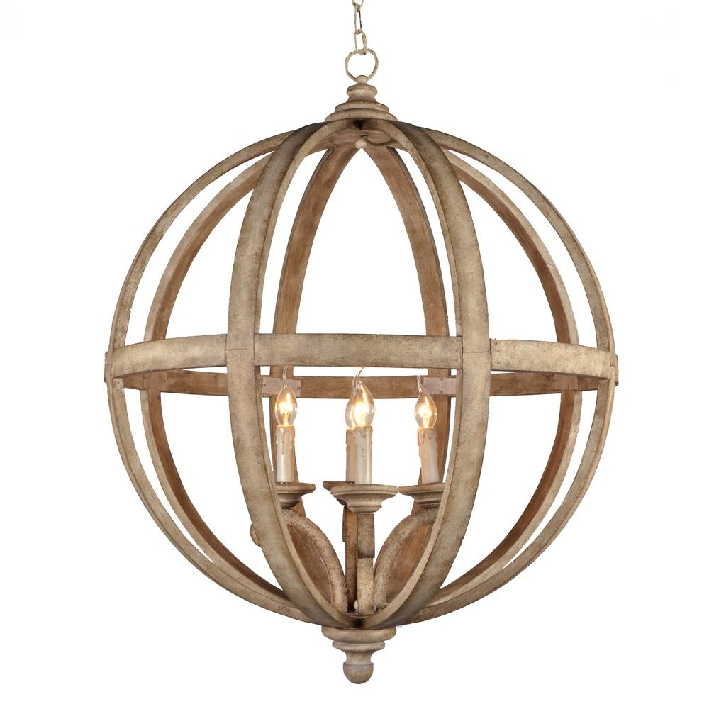 Y Decor Hercules 4 Light Brown Wood Globe Chandelier Lz3225 4 Inside Globe Chandeliers (Photo 12 of 15)