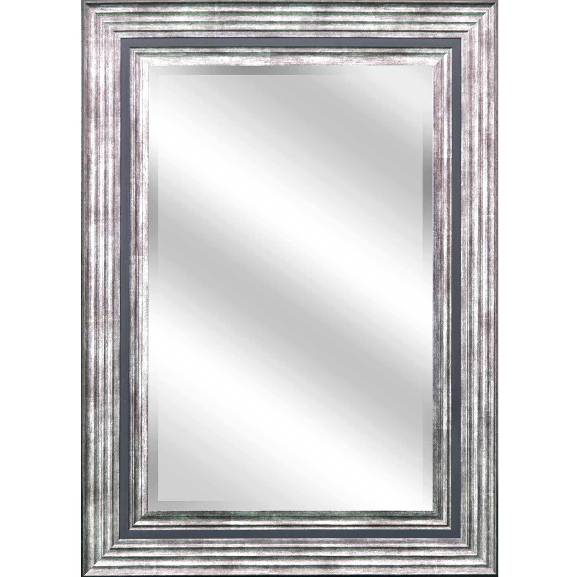 Y Decor Reflection Bevel Wall Mirror Reviews Wayfair In Double Bevelled Mirror (Image 14 of 15)