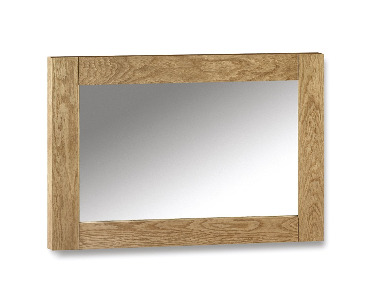 Yabou Large Solid Oak Mirror With Bevelled Glass 115 60cm With Large Oak Mirror (View 4 of 15)