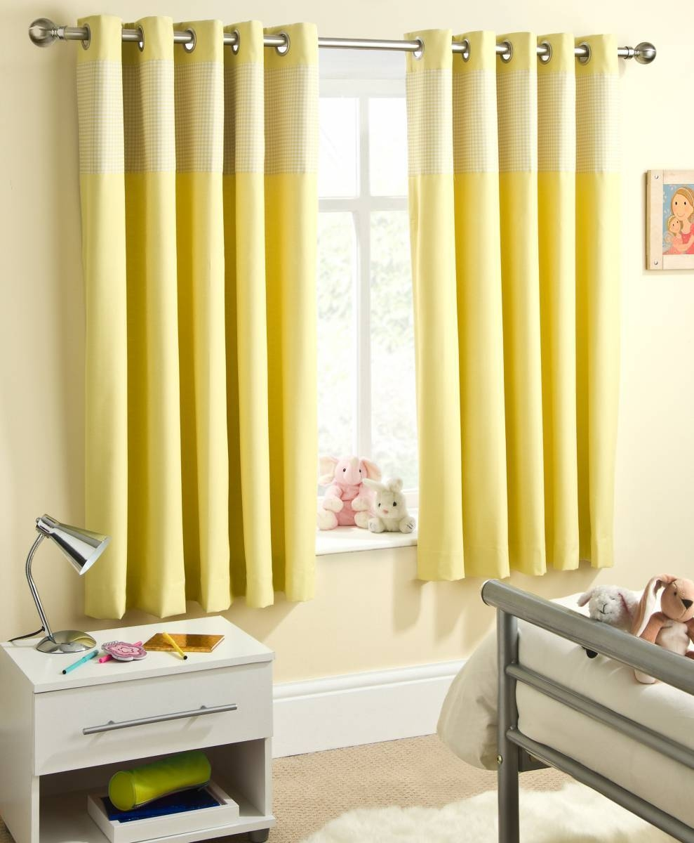 Yellow Curtains Nursery Inside Nursery Curtains (Image 15 of 15)